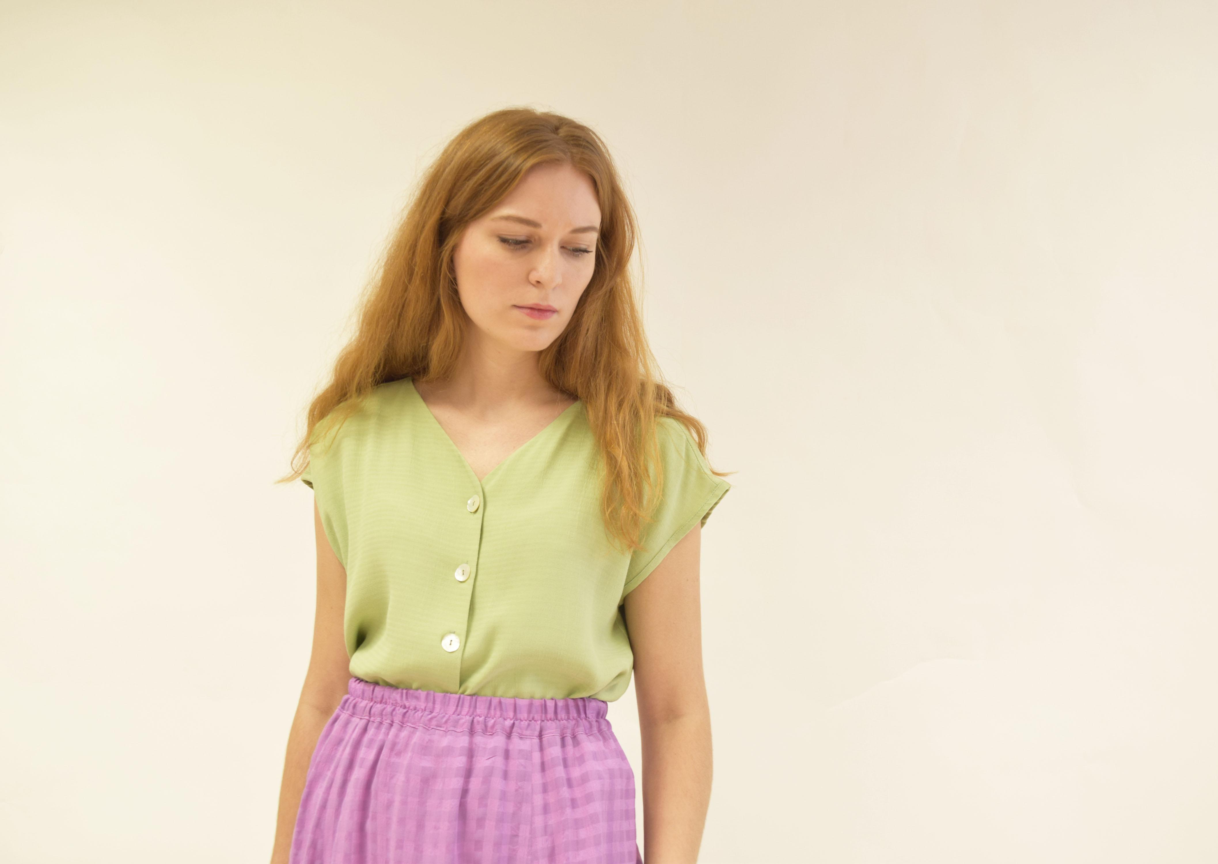 Camisa Amatxo verde manzana