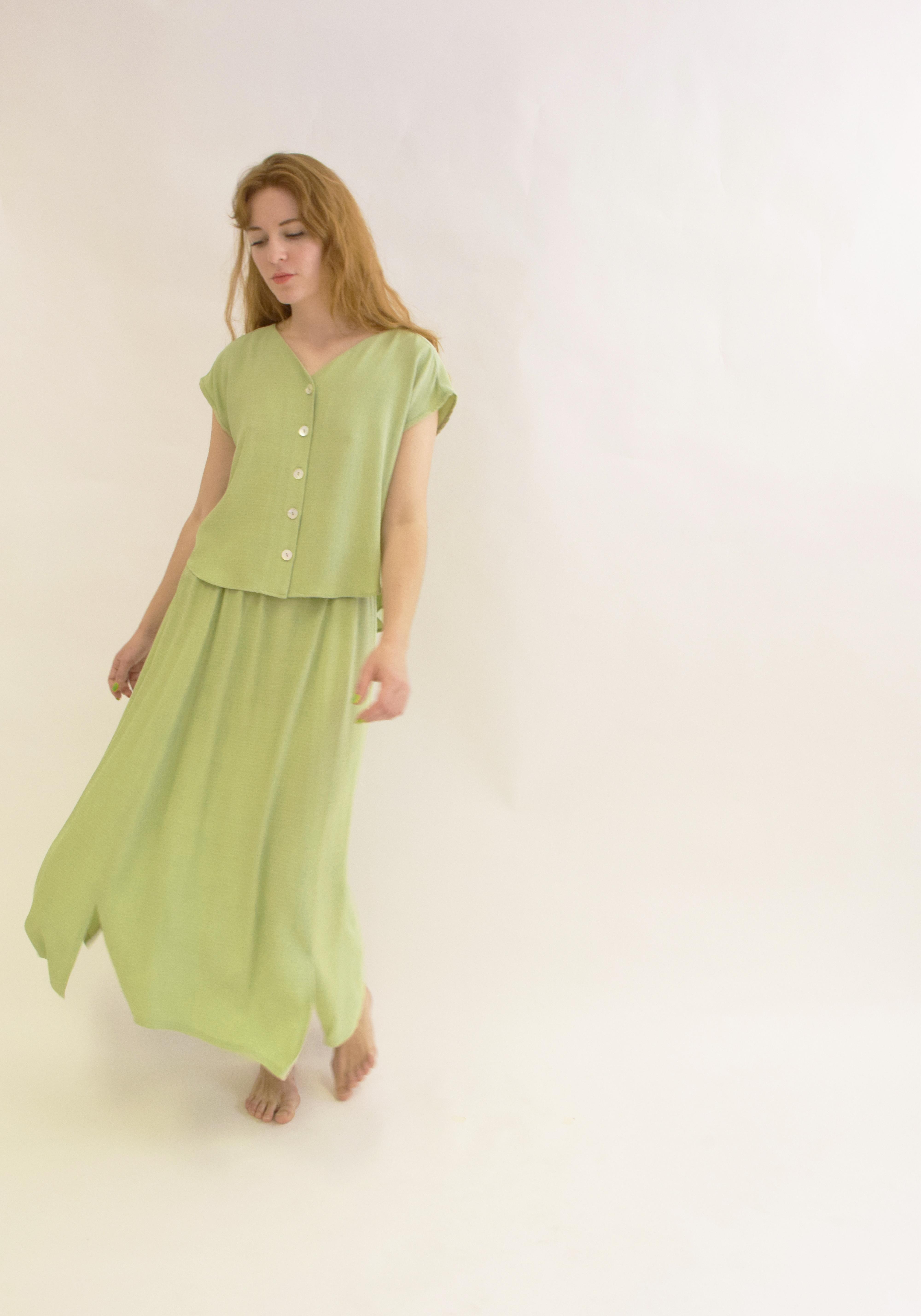 Falda Amatxo verde manzana
