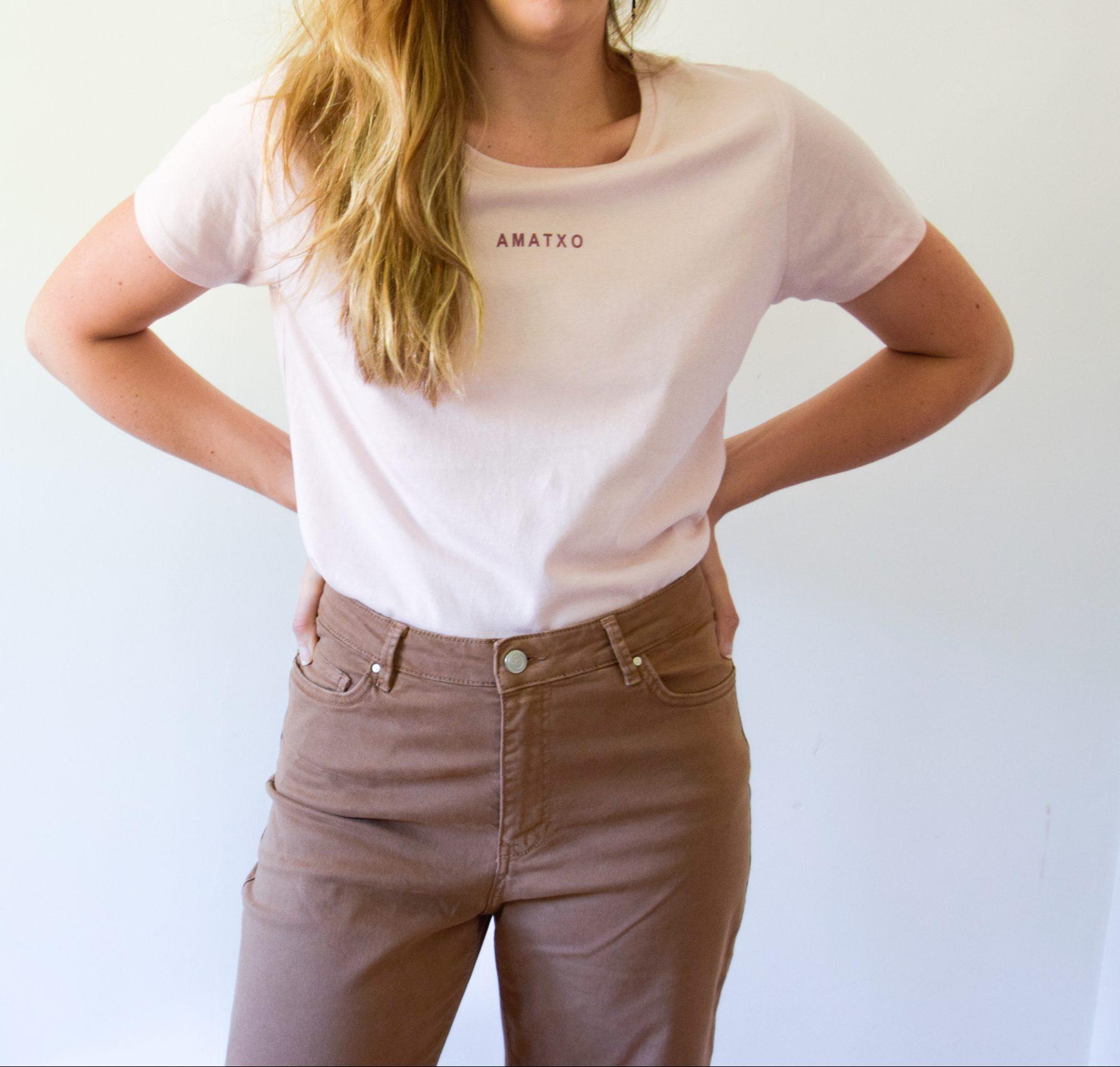 camiseta amatxo flamingo